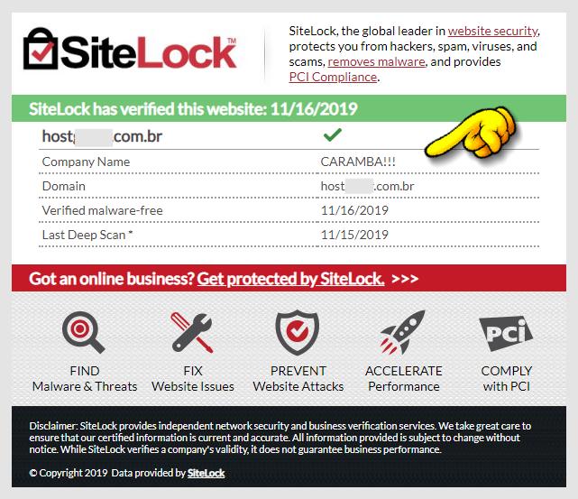 Bug no SiteLock