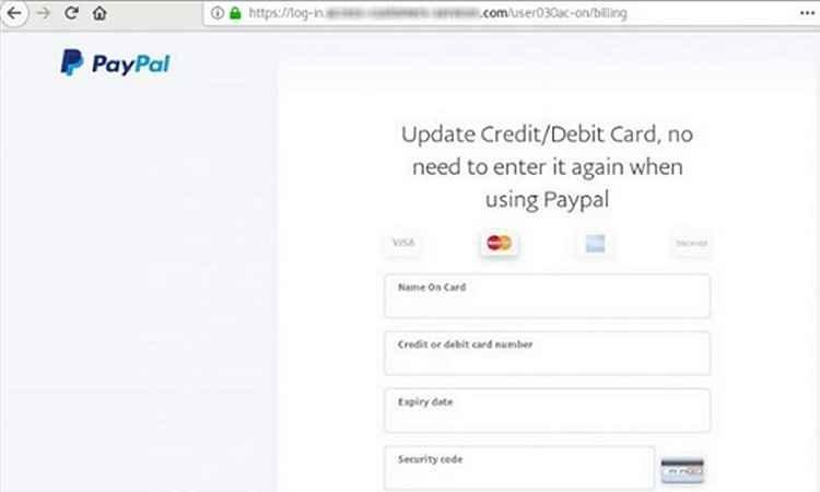 Phishing do PayPal é completamente perfeito!
