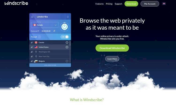 Windscribe, a VPN grátis de 10 GB ou apenas 2 dólares