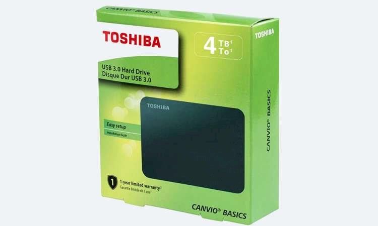 HD Externo Toshiba 4TB Preto USB 3.0 - R$ 769,00